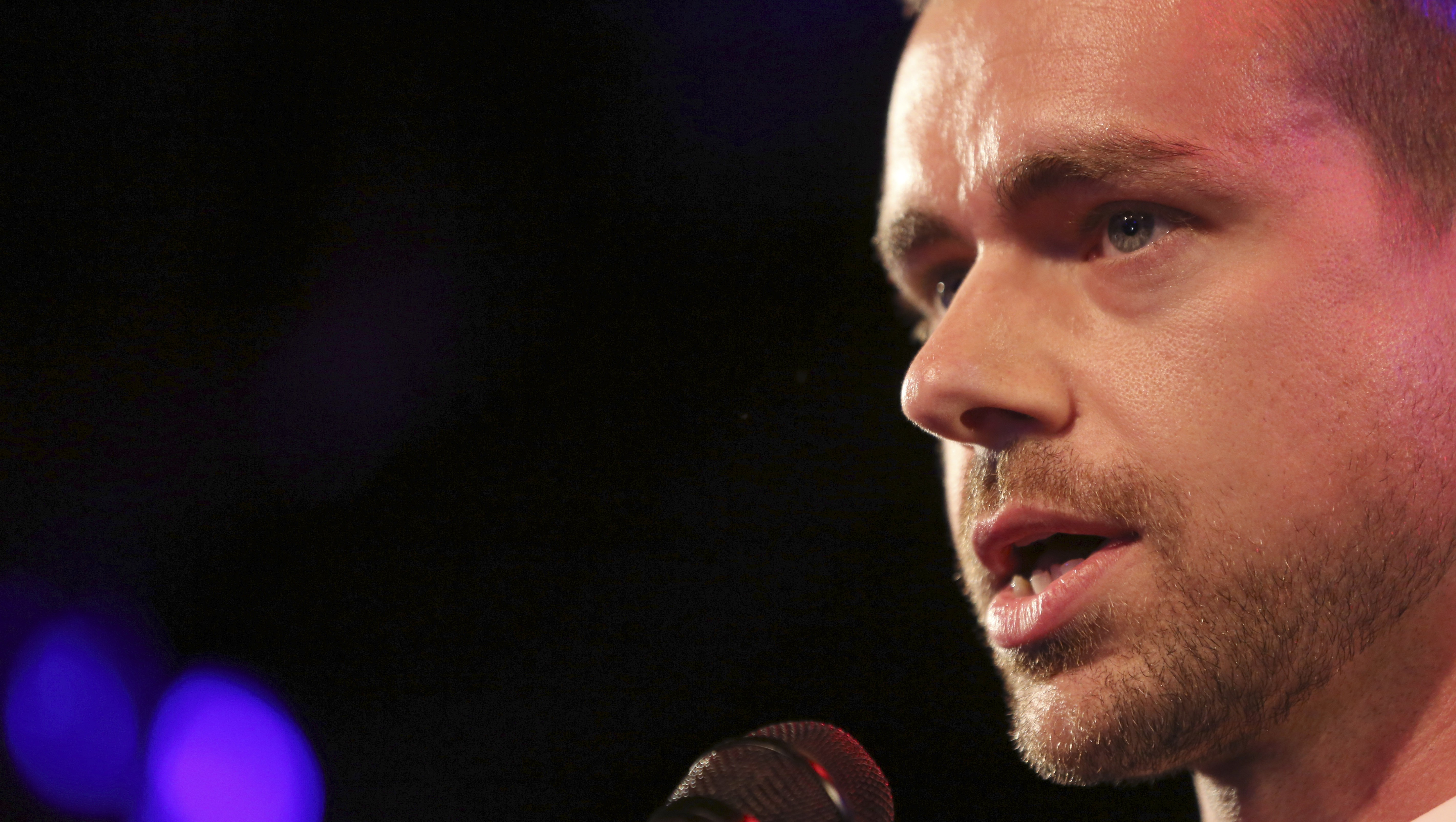 Twitter co-Founder Jack Dorsey speaks at a campaign fundraiser for Democratic Candidate for Public Advocate Reshma Saujani, Wednesday, April 24, 2013 in New York. (AP Photo/Mary Altaffer)