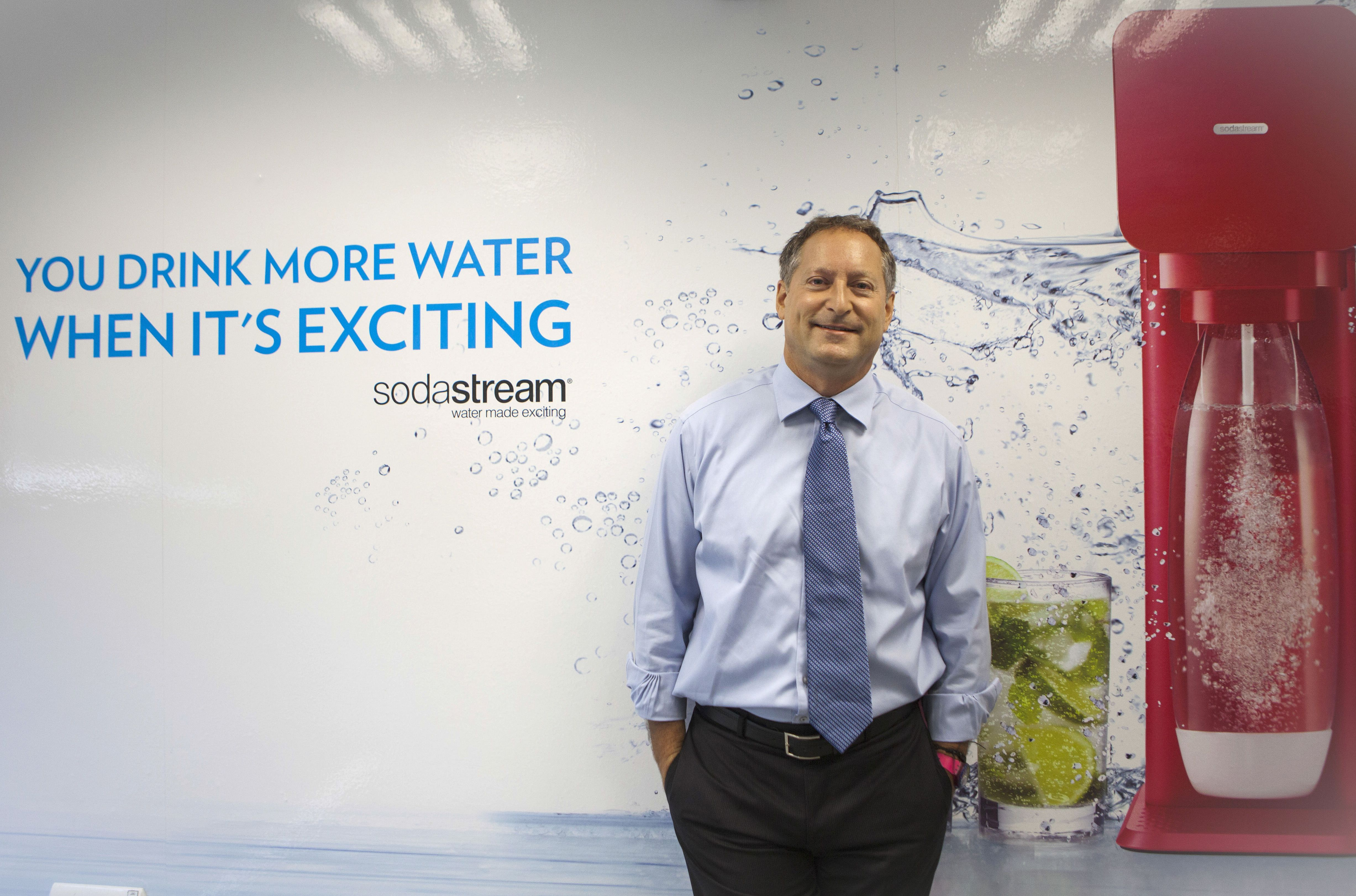 In this Wednesday, Sept. 2, 2015 photo, Sodastream CEO Daniel Birnbaum poses for a photograph  at the SodaStream factory next to the city of Rahat, Israel. (Photo/Dan Balilty)