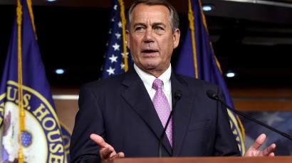 House Speaker John Boehner of Ohio speaks during a news conference on Capitol Hill in Washington, Wednesday, July 29, 2015. An effort by a conservative Republican to strip Boehner of his position as the top House leader is largely symbolic, but is a sign of discontent among the more conservative wing of the House GOP. On Tuesday, Rep. Mark Meadows of North Carolina, who was disciplined earlier this year by House leadership, filed a resolution to vacate the chair, an initial procedural step