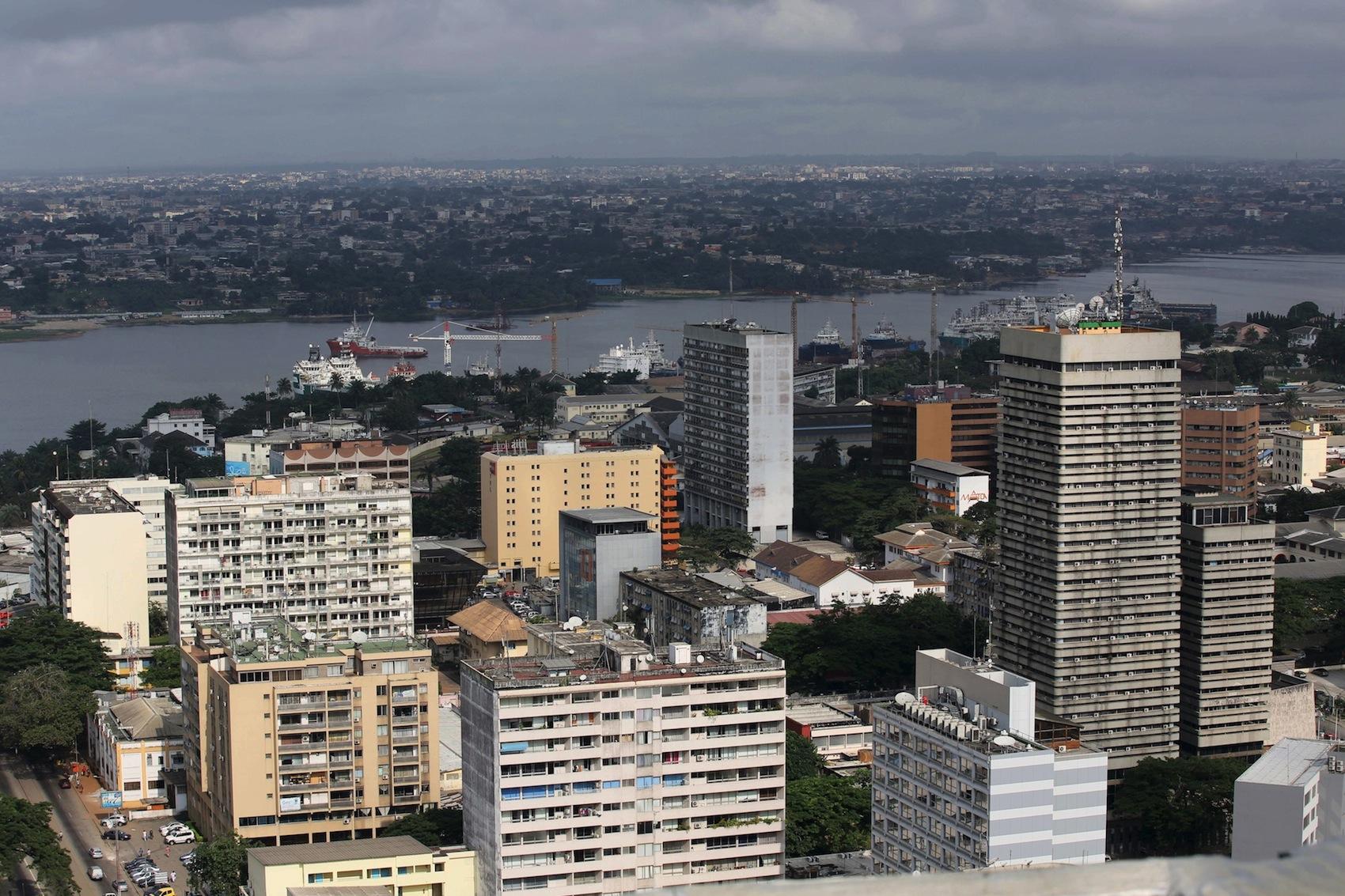 The Plateau district, Abidjan's business center.