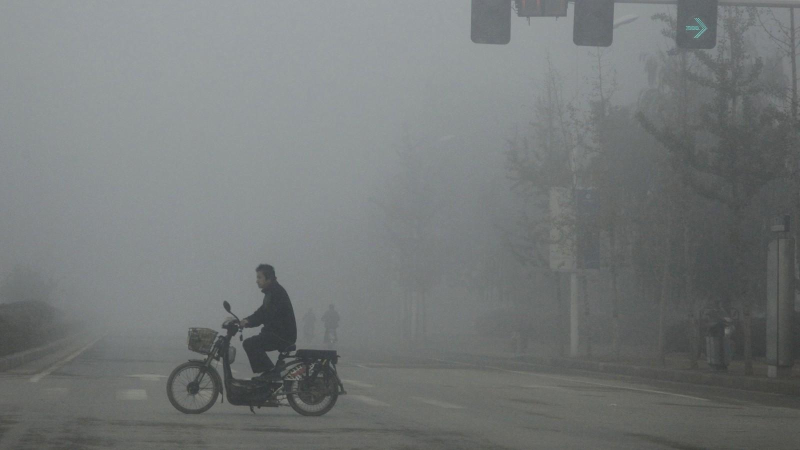 Smog in Zhengzhou,