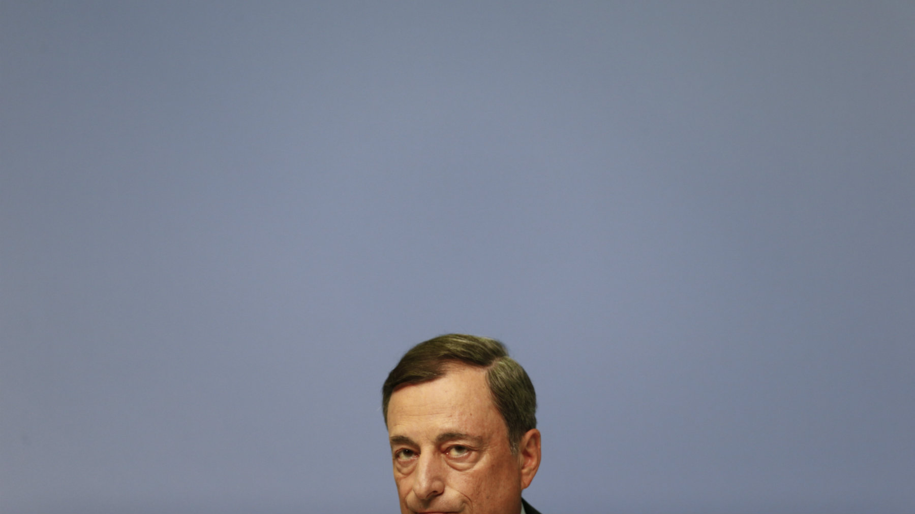 European Central Bank president Mario Draghi addresses a news conference at the ECB headquarters in Frankfurt, Germany, September 3, 2015. The European Central Bank said on Thursday it was holding its 60 billion euro a month asset purchase limit unchanged but raised the amount of any one issue it could buy to 33 percent from 25 percent. REUTERS/Ralph Orlowski
