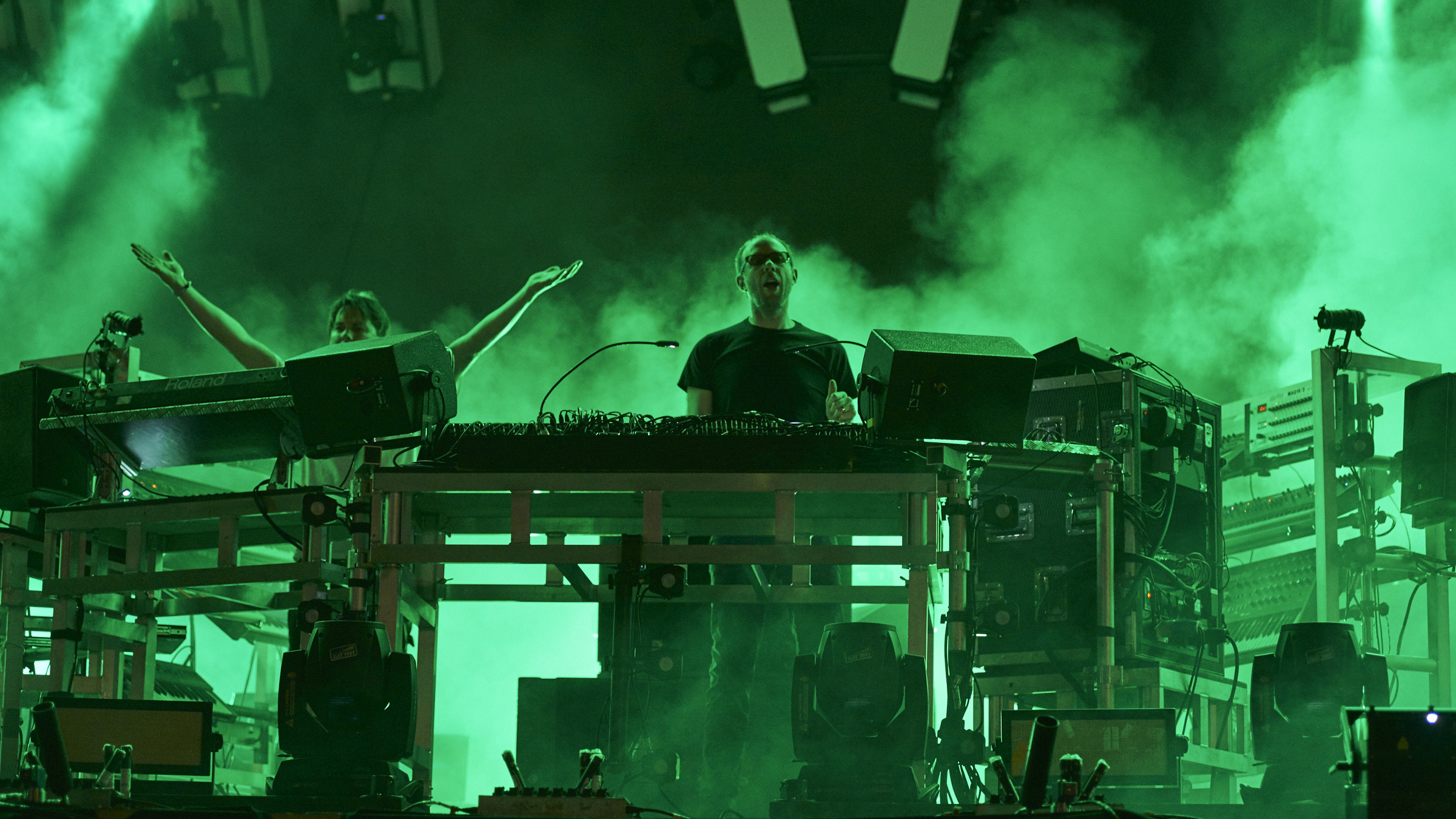 The Chemical Brothers perform on day 1 of the Electric Zoo EDM festival at Randall's Island Park on Friday, Sept. 4, 2015 in New York.
