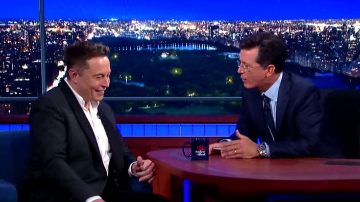 Elon Musk Colbert