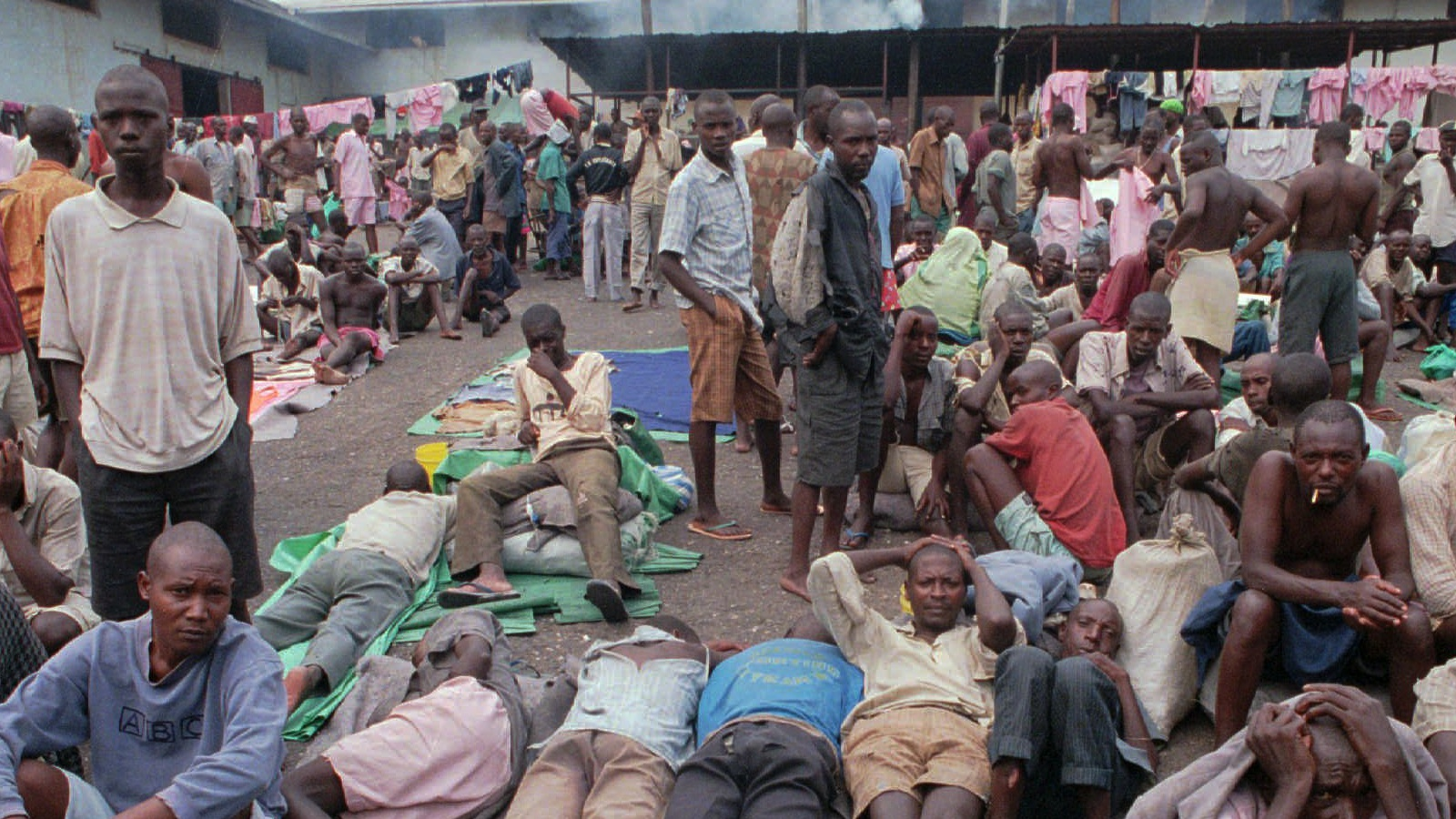 Detainees at Kigali's Gikondo Detention Center