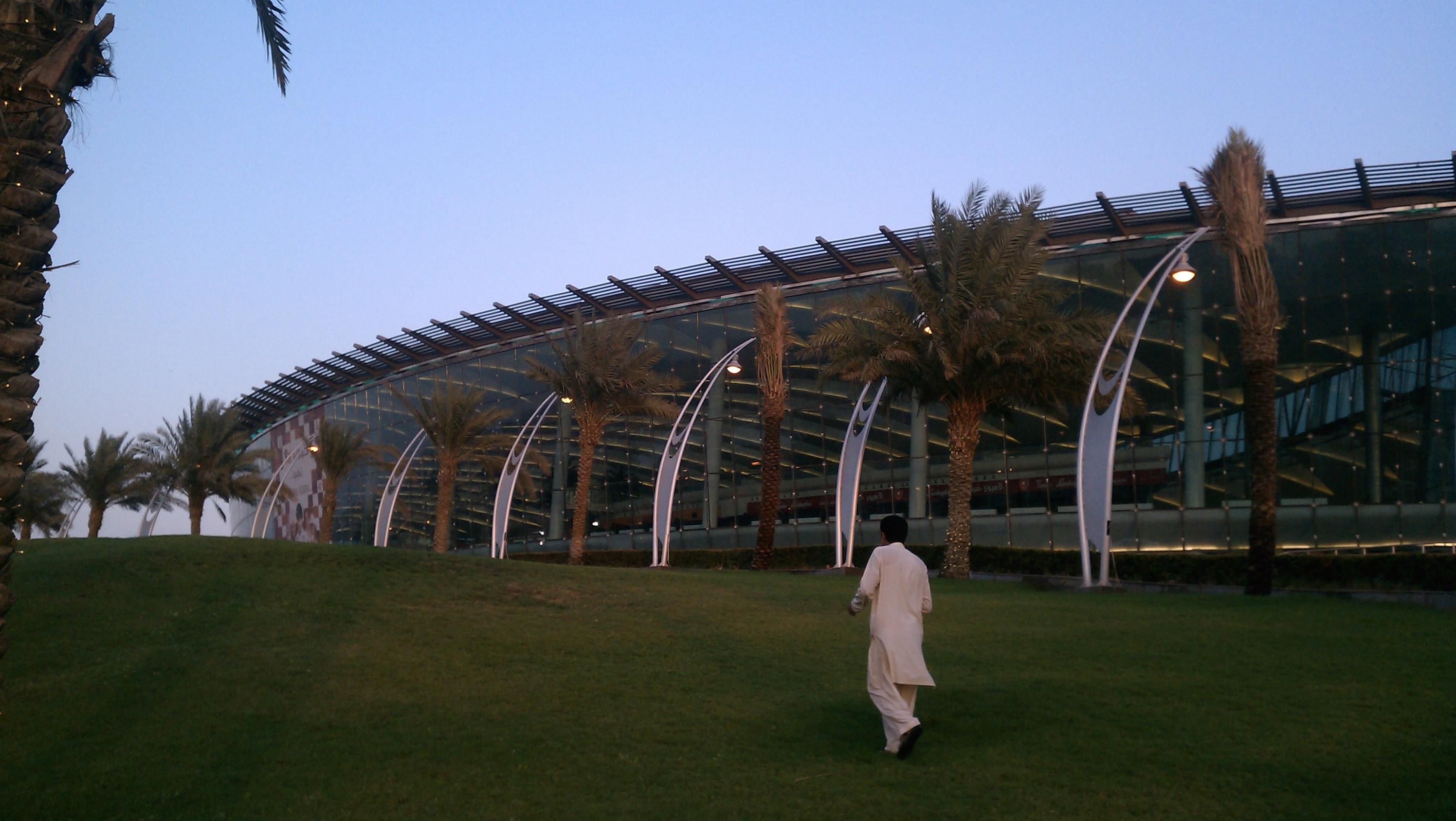 A man walks in front of the Mall of Arabia in Jeddah, Saudi Arabia.
