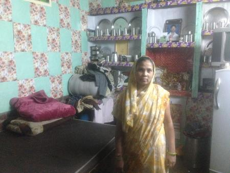 Malti in her one-room house