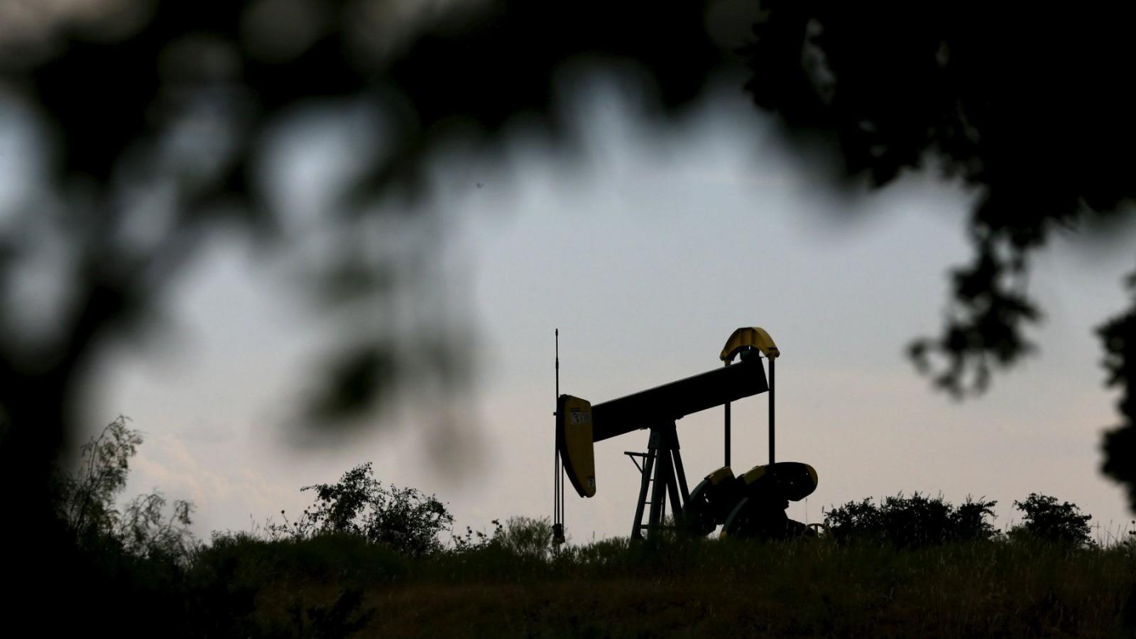 An oil pump jack can be seen in Cisco, Texas.