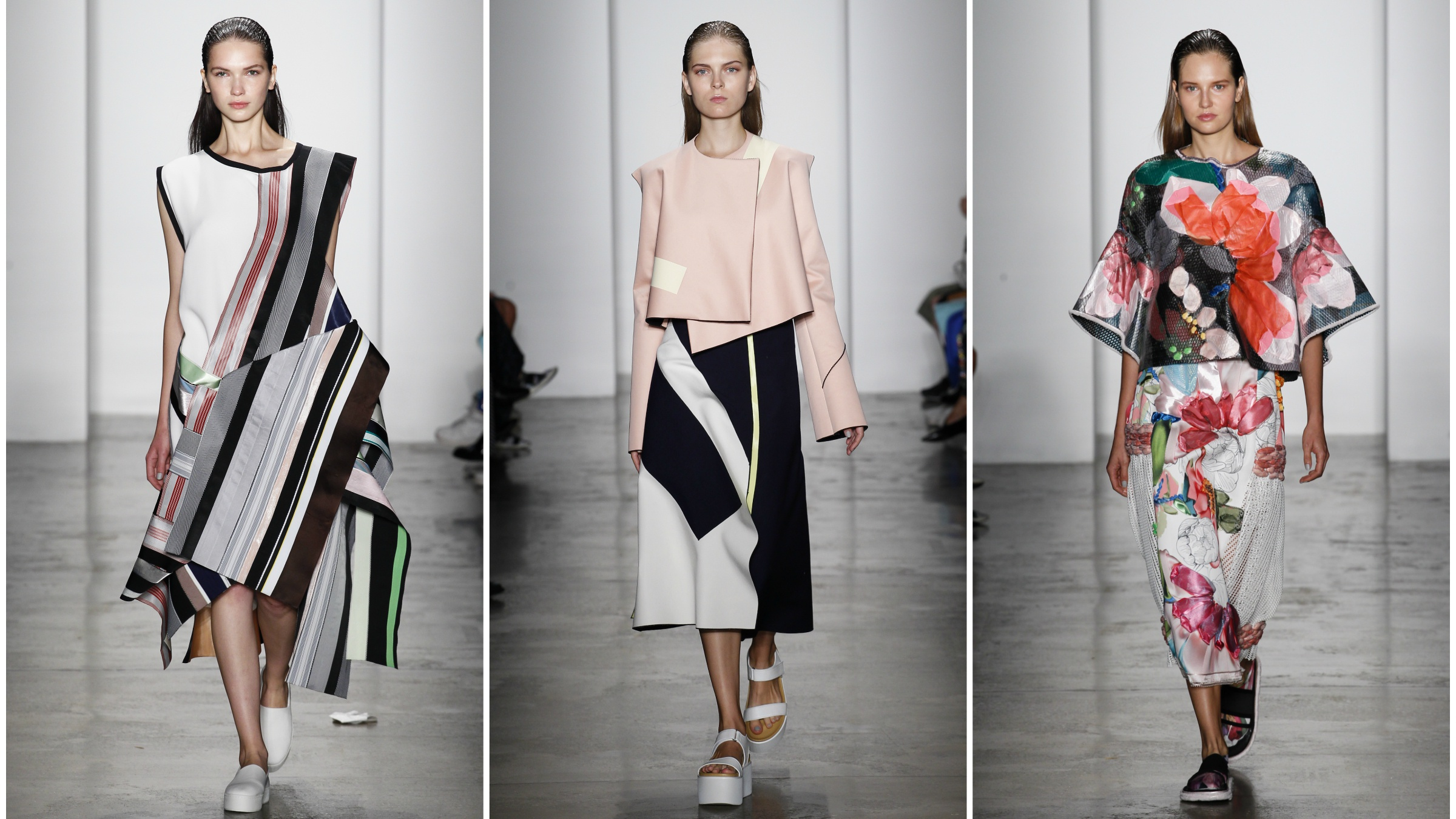 Looks by Chinese designers from Parsons' September 2015 MFA show