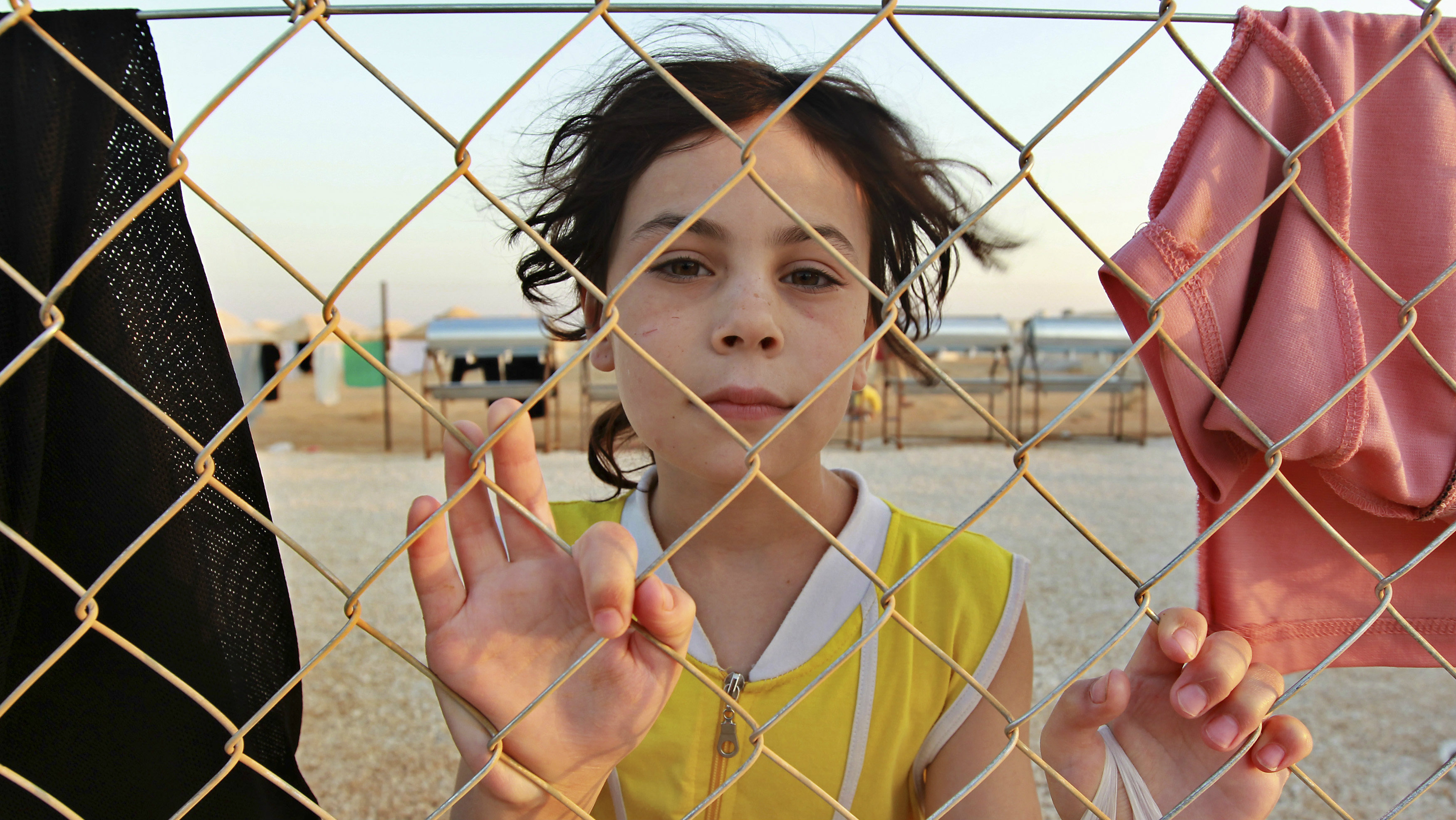 A Syrian refugee is pictured at the Al Zaatri refugee camp in the Jordanian city of Mafraq, near the border with Syria, July 31, 2012.