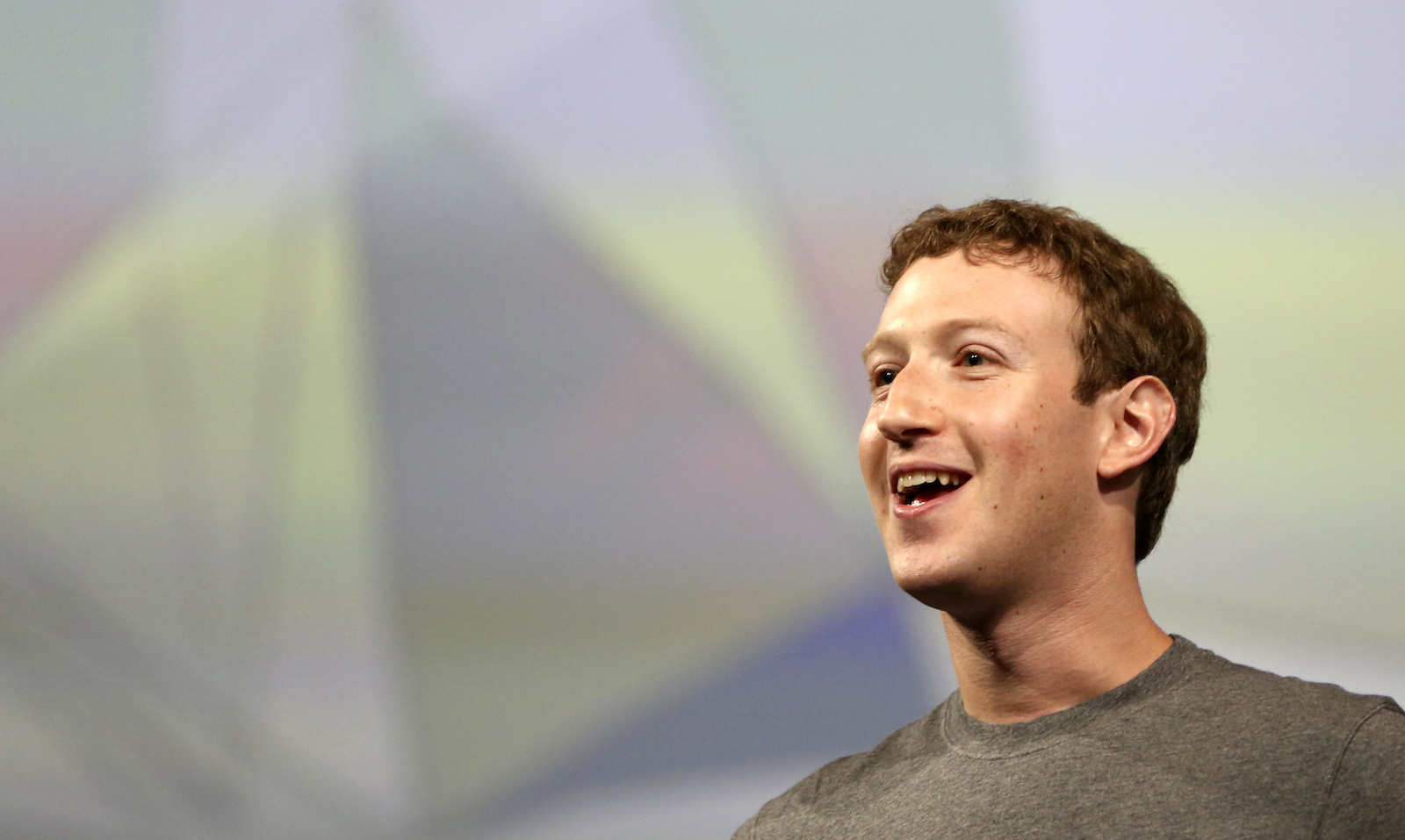 Facebook CEO Mark Zuckerberg addresses the crowd gathered during his keynote address at Facebook's f8 developers conference in San Francisco