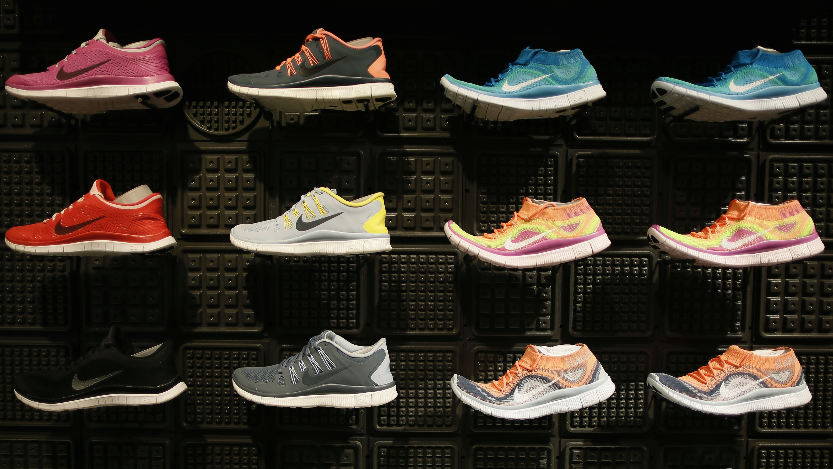 e17653d33a43 Shoes are displayed at the Nike store in Santa Monica, California,  September 25,