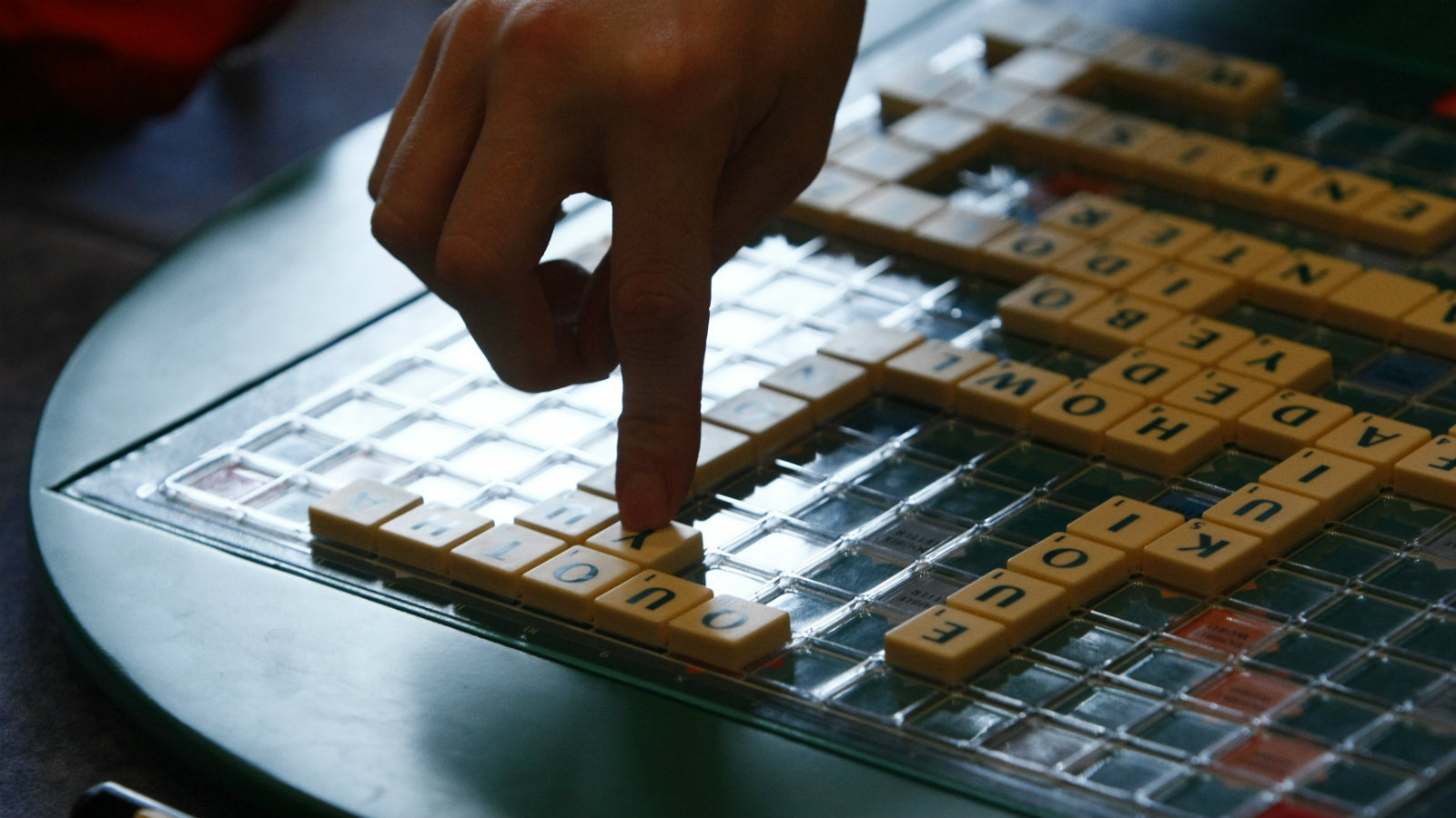 Players play scrabble at 2011 World Scrabble Championship in Warsaw October 15, 2011. (POLAND - Tags: SOCIETY)