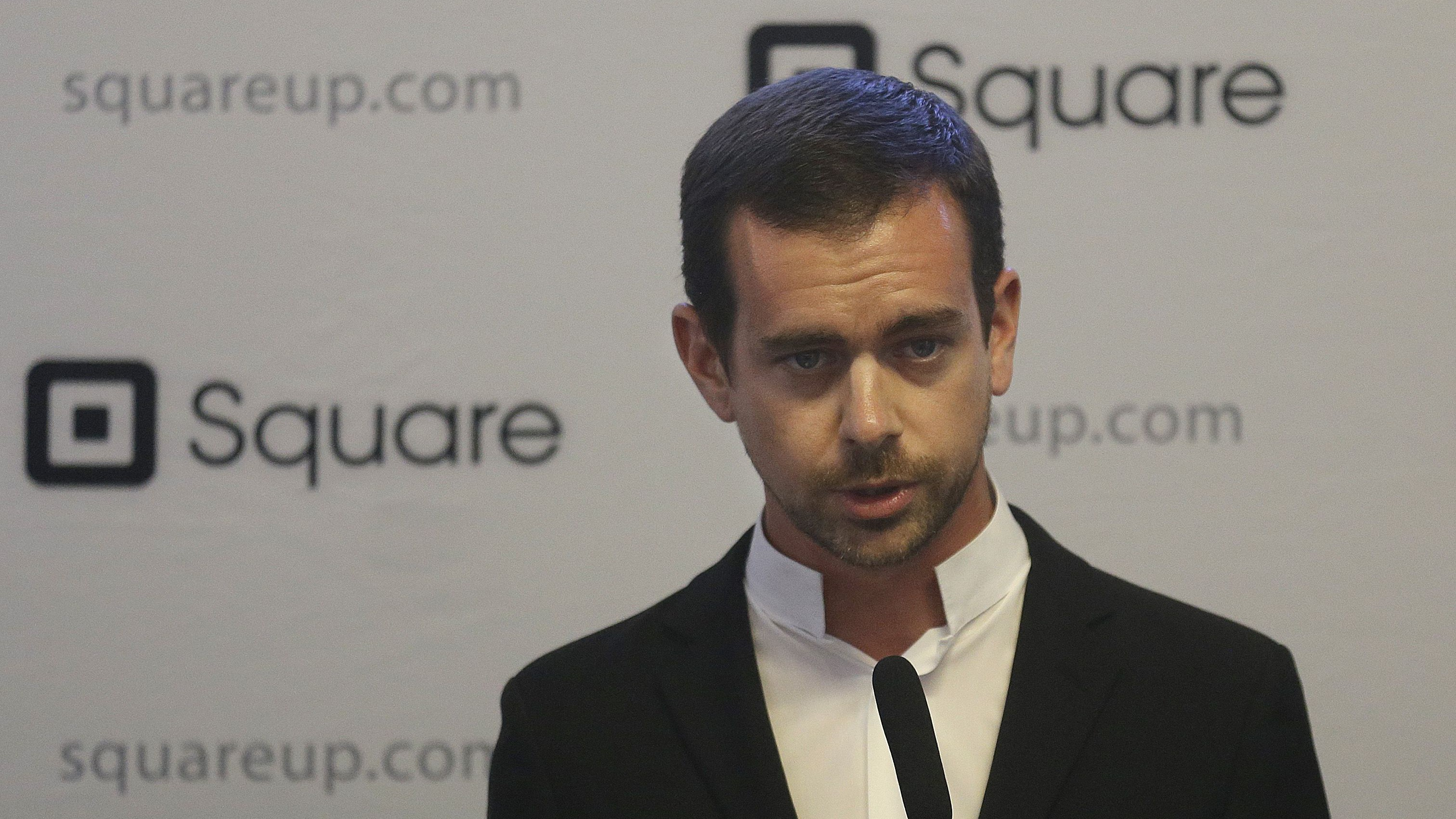 Square CEO Jack Dorsey speaks at a news conference in San Francisco in 2013