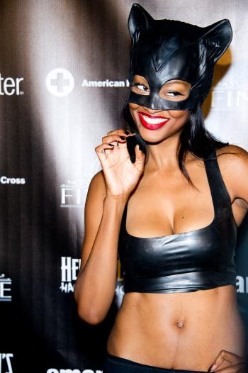 Nichole Galicia attends Heidi Klum's Haunted Holiday Party benefiting Superstorm Sandy relief efforts, on Saturday, Dec. 1, 2012 in New York. Klum's original party, scheduled to be held on Halloween, was postponed due to the storm. (Photo by Charles Sykes/Invision/AP)