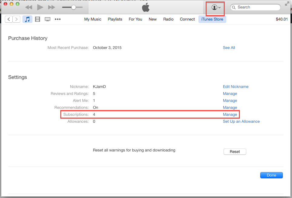 How to cancel automatic billing for Apple Music in iTunes