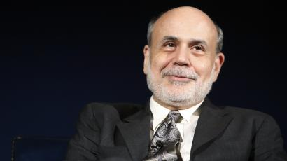 U.S. Federal Reserve Chairman Ben Bernanke sits for an onstage interview at the National Economists Club annual dinner at the U.S. Chamber of Commerce in Washington, November 19, 2013.