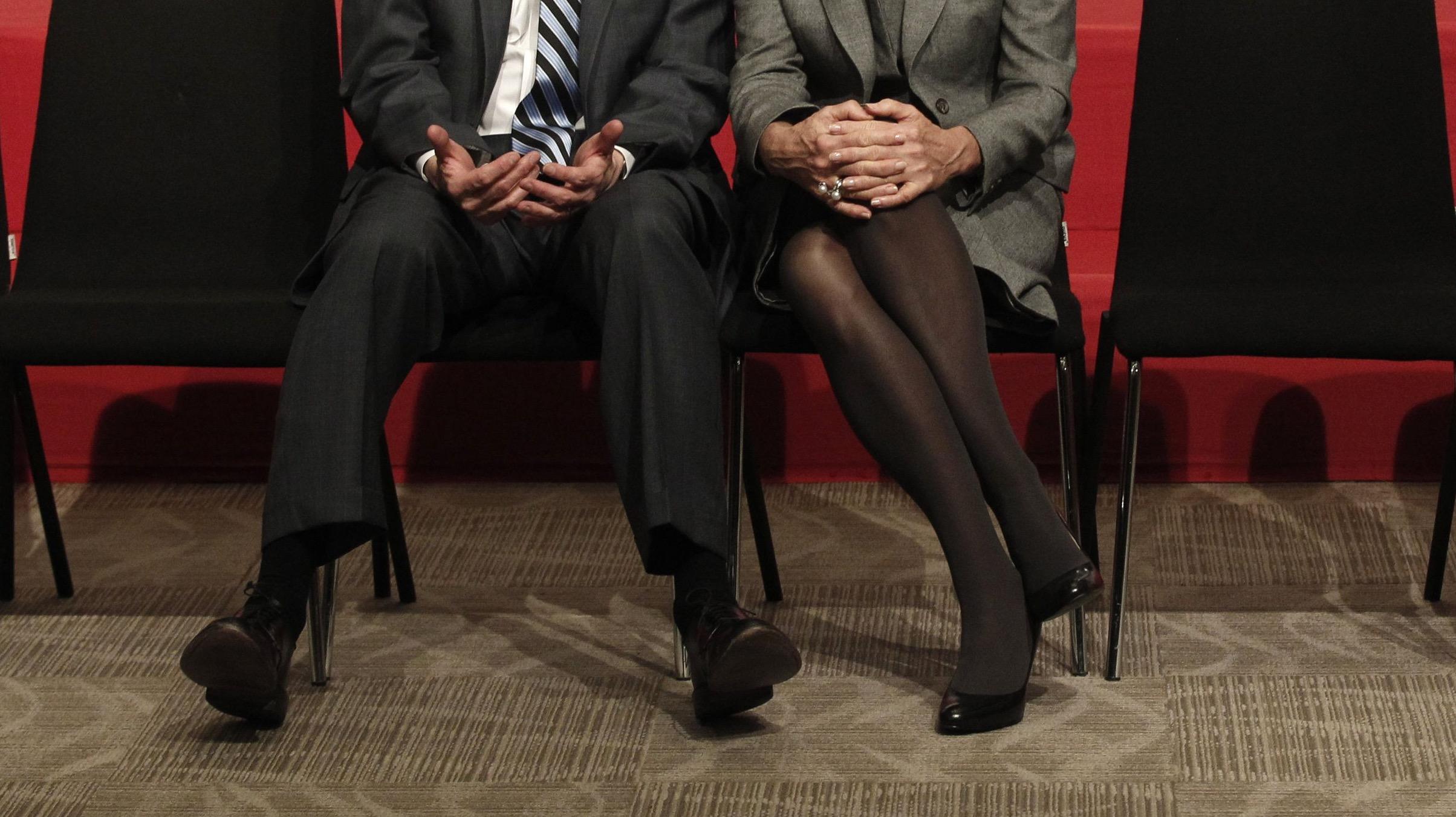 U.S. Treasury Secretary Jack Lew (L) talks with International Monetary Fund (IMF) Managing Director Christine Lagarde.