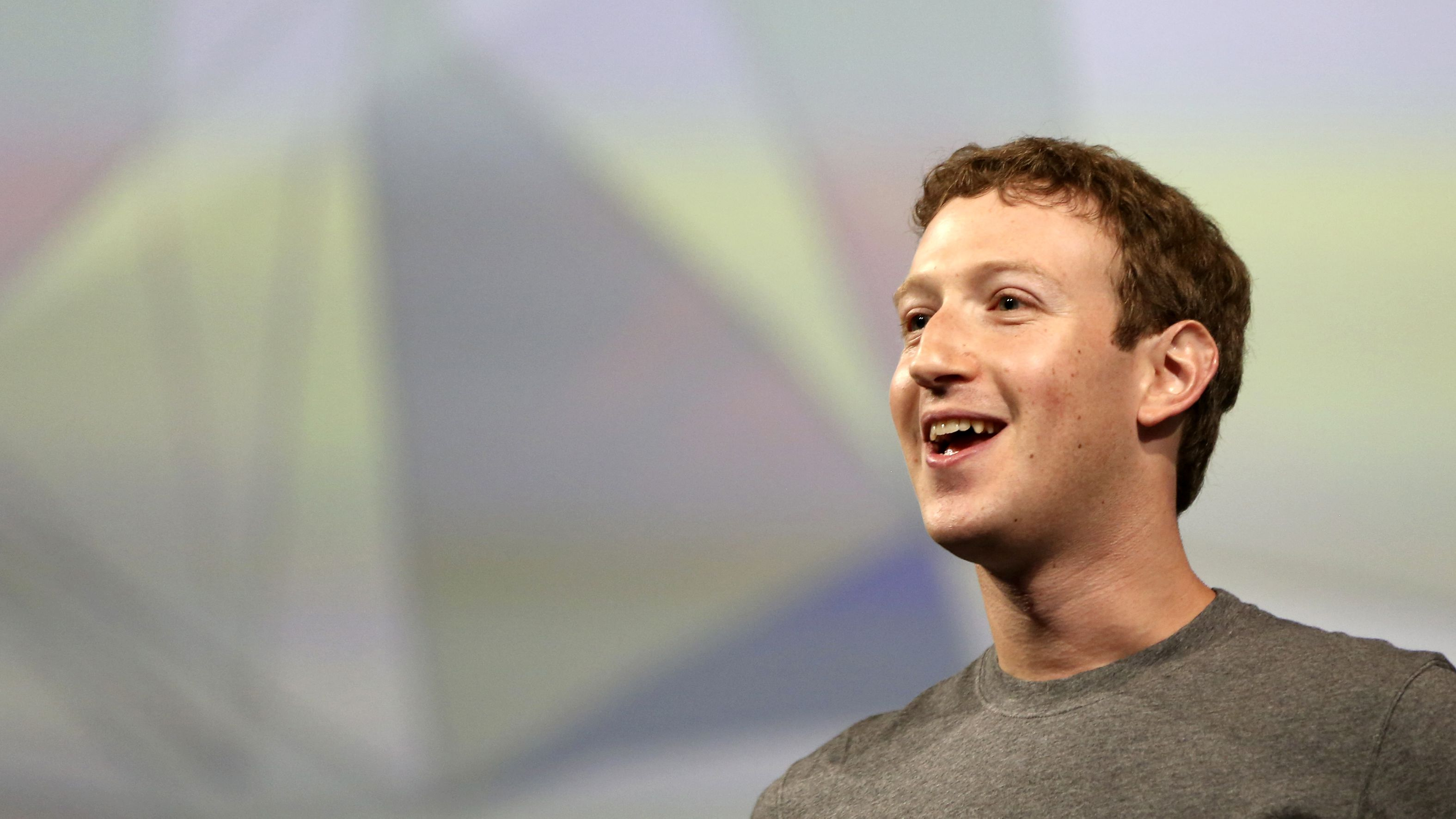 Facebook CEO Mark Zuckerberg addresses the crowd gathered during his keynote address at Facebook's f8 developers conference in San Francisco, California April 30, 2014.