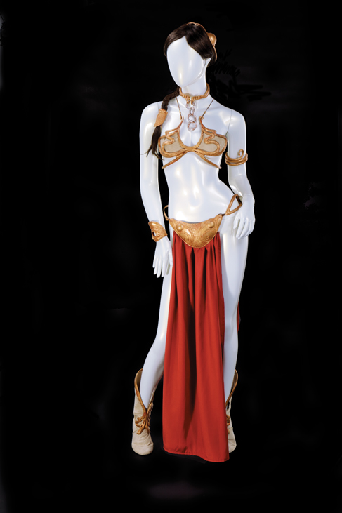 """Carrie Fisher's """"slave Leia"""" costume collection from Return of the Jedi"""