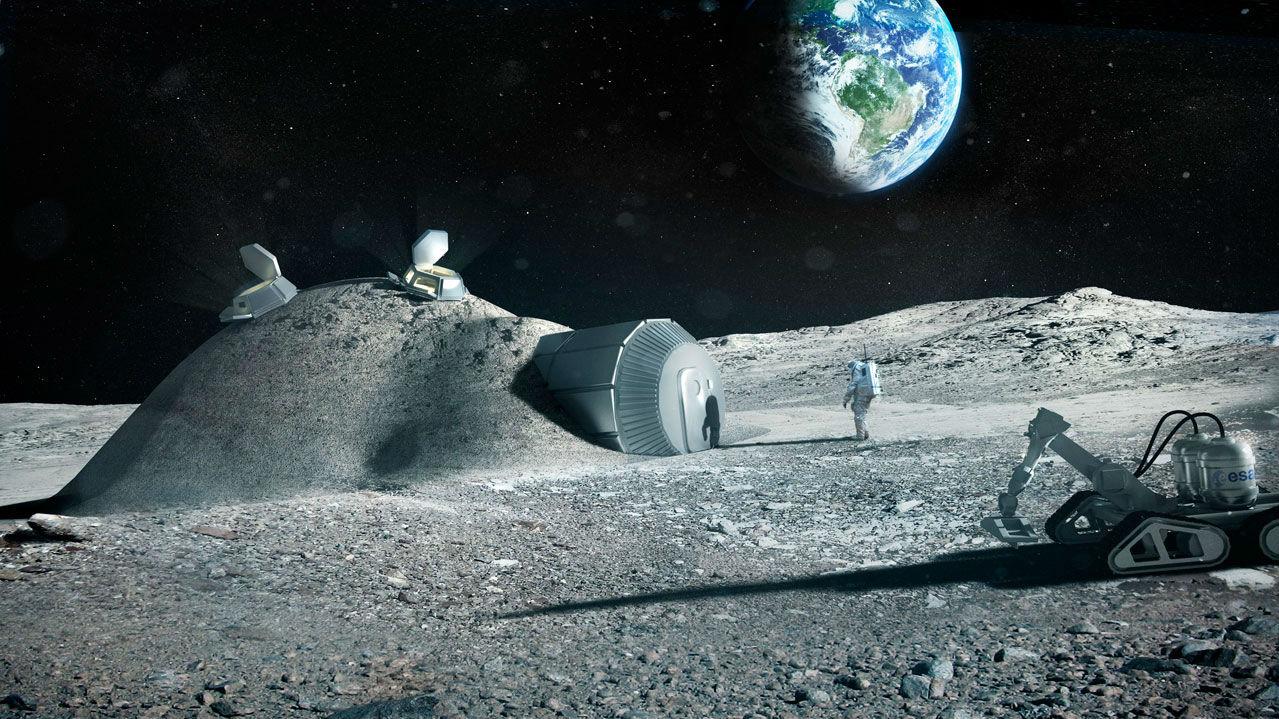 ESA moon base concept