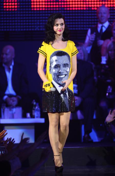 LIVERPOOL, UNITED KINGDOM - NOVEMBER 06: Katy Perry performs during the 2008 MTV Europe Music Awards held at the Echo Arena on November 6, 2008 in Liverpool, England. (Photo by Mike Marsland/Getty Images)