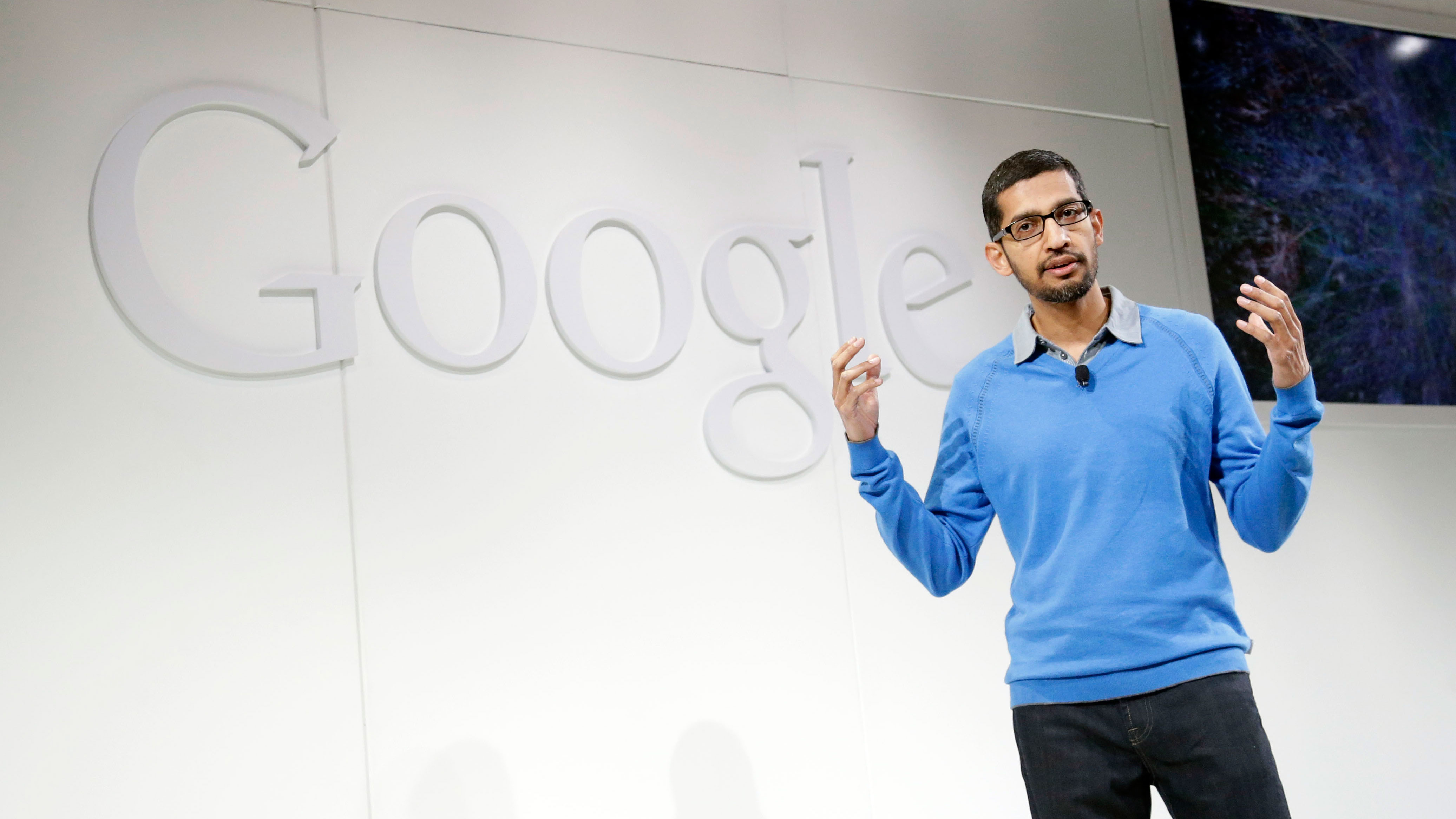 Sundar Pichai on Wednesday, July 24, 2013, in San Francisco. (AP Photo/Marcio Jose Sanchez)