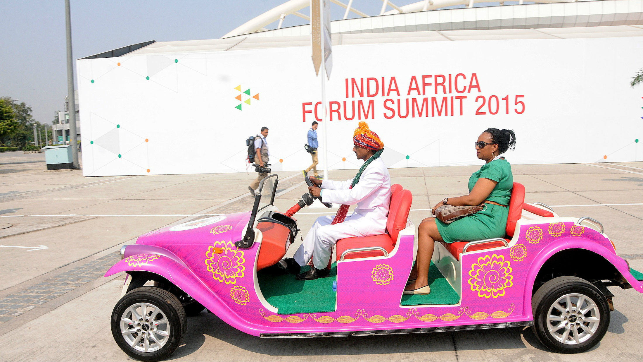 The Africa-India summit begins in New Delhi.