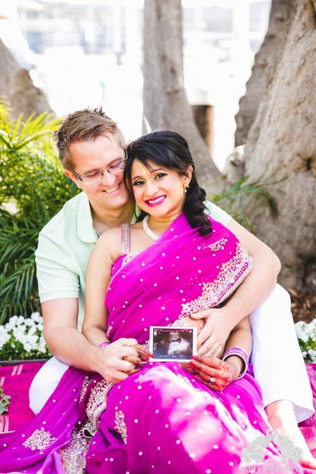 24b8b8fe6a7d8 An Indian maternity photo shoot with glitters, bridal jewellery and ...
