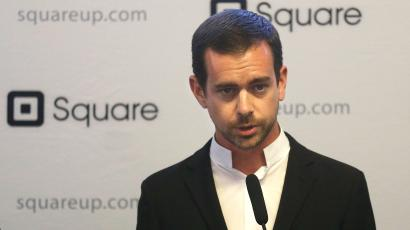 """Square CEO Jack Dorsey speaks at a news conference in San Francisco, Friday, June 14, 2013. New York Mayor Michael Bloomberg and San Francisco Mayor Ed Lee announced they are sponsoring a pair of technology summits to be held in each of their cities in the next year. The mayors said the """"digital cities"""" summits _ one in New York in September and another in San Francisco early next year _ will seek to find ways to use technology to solve the problems the cities face. (AP Photo/Jeff Chiu)"""