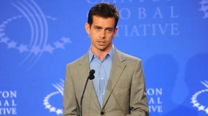 """Creator and co-founder of Twitter, Jack Dorsey speaks at the """"Real Men"""" campaign press conference to help end child sex slavery during the Clinton Global Initiative on Thursday, Sept. 23, 2010 in New York. (AP Photo/Evan Agostini)"""