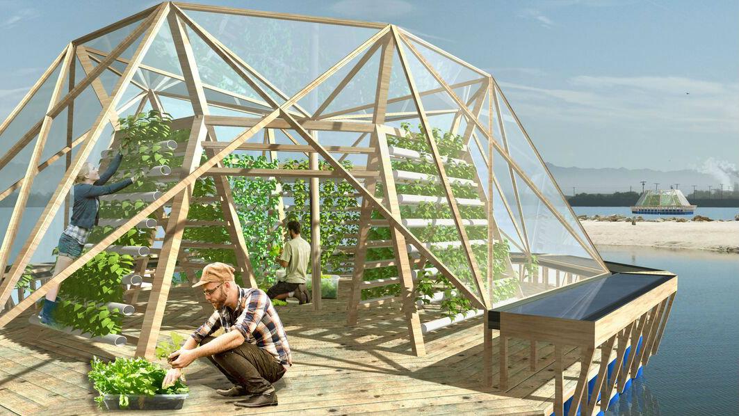 Visiting a Futuristic Greenhouse Jellyfishrender