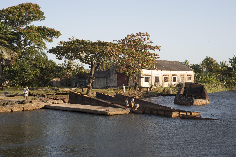 A river in Manakara, Madagascar