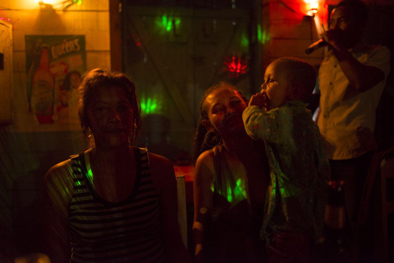 Young boy at a Manakara karaoke bar