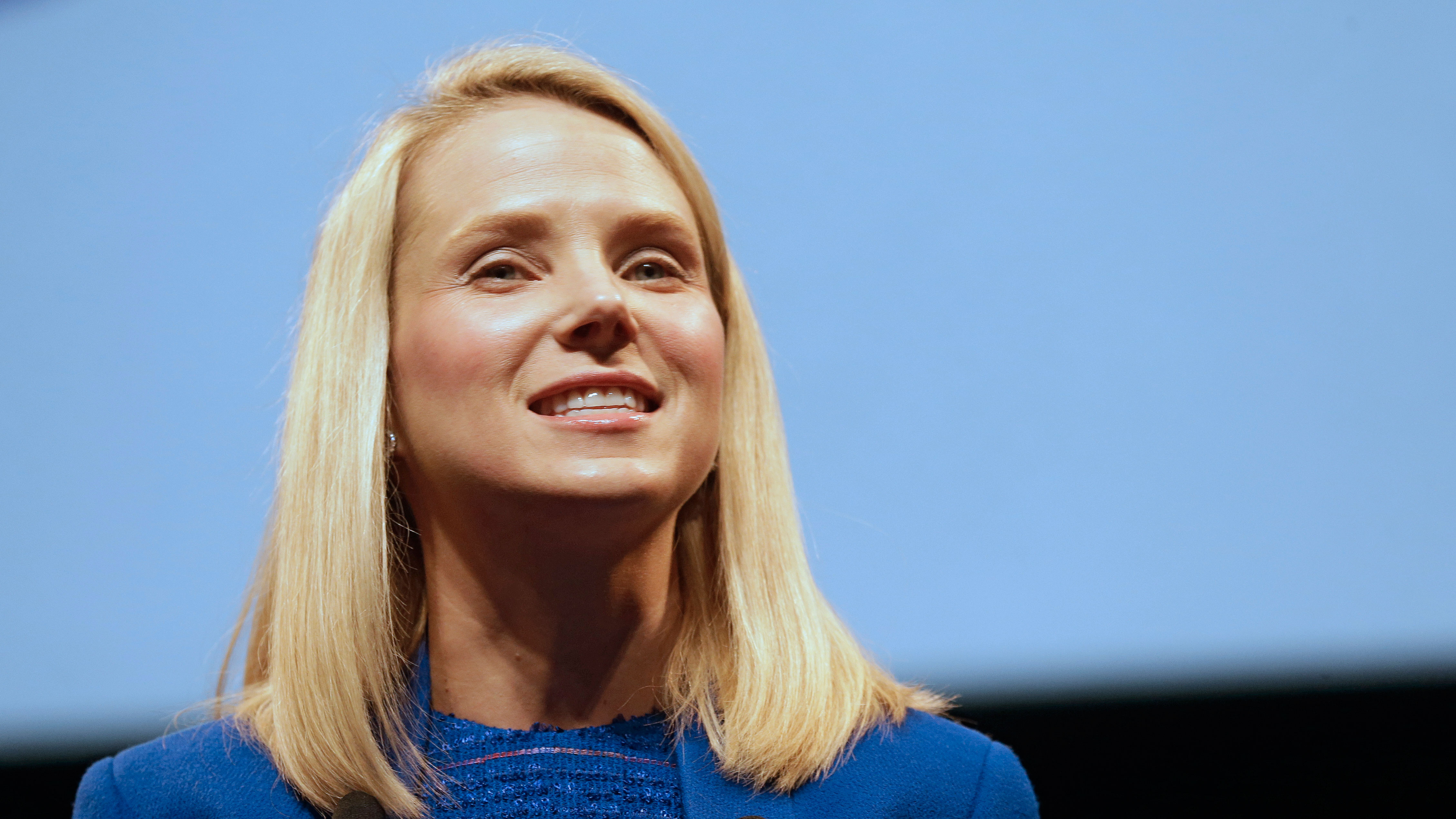 Marissa Mayer, CEO of Yahoo, attends the Cannes Lions 2014, 61st International Advertising Festival in Cannes, southern France, Tuesday, June 17, 2014. The Cannes Lions International Advertising Festival is a world's meeting place for professionals in the communications industry.(AP Photo/Lionel Cironneau)