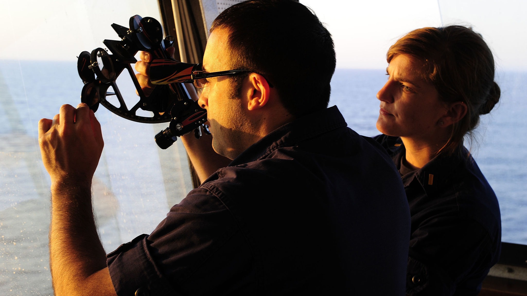 Maritime navigation by sextant US Navy