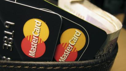 MasterCard credit cards are seen in this illustrative photograph.