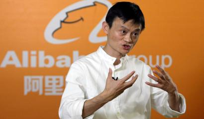 Jack Ma, chief executive of Alibaba Group, speaks during a news conference in Hangzhou, Zhejiang province September 11, 2009. Alibaba Group said on Friday it is beta testing a new B2B (business-to-business) platform for international customers to be launched first in the United States by the end of the year. REUTERS/Aly Song (CHINA BUSINESS) - RTR27P4W
