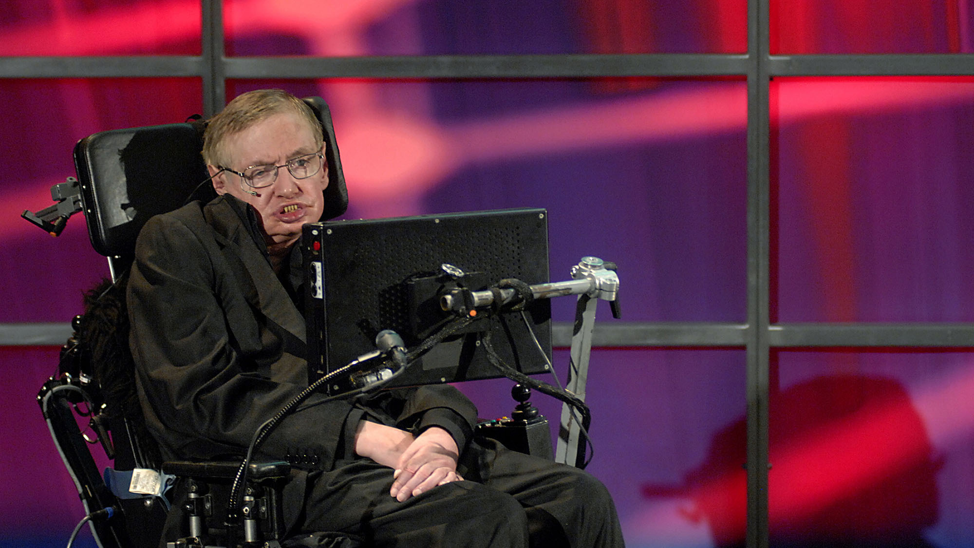 Theoretical physicist Stephen Hawking speaks at his official welcoming ceremony at Perimeter Institute For Theoretical Physics in Kitchener June 20, 2010. Hawking will be conducting research at the facility.