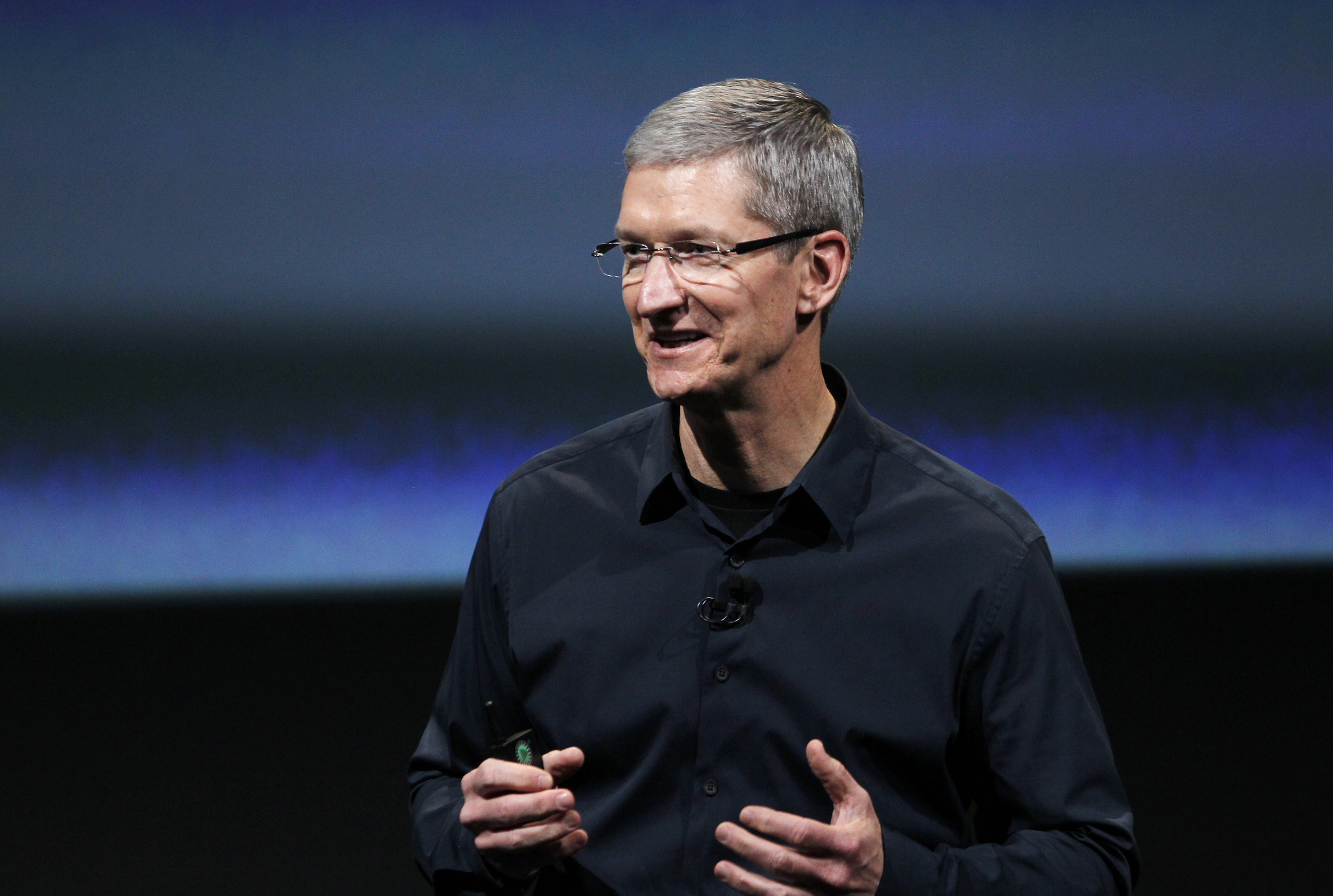 Apple CEO Tim Cook speaks about the iPhone 4S at Apple headquarters in Cupertino, California October 4, 2011.