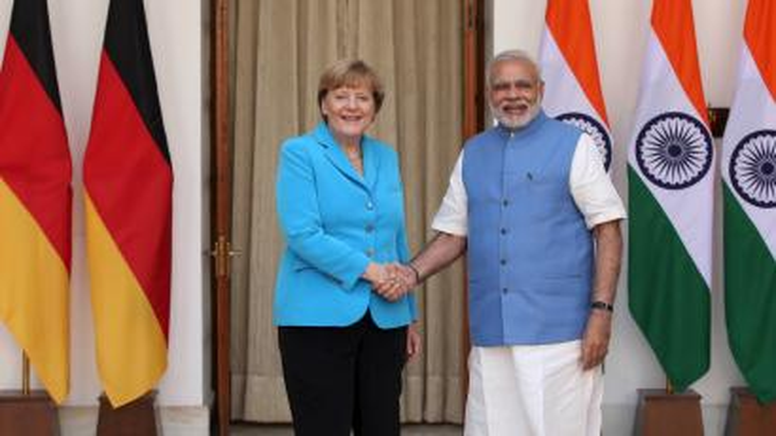 Angela Merkel-Narendra Modi-Germany-India