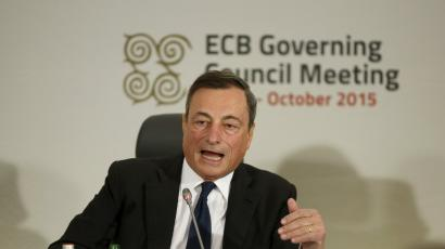 European Central Bank president Mario Draghi addresses a news conference after a meeting of the ECB Governing Council in St Julian's, outside Valletta, Malta, October 22, 2015.