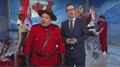 John Oliver and Mike Myers