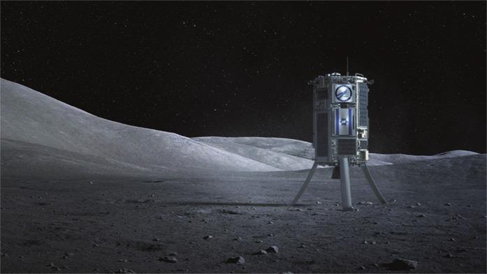 A rendering of SpaceIL's lunar probe.