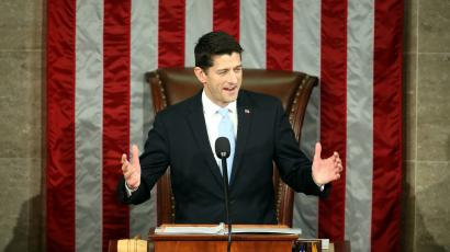 Rep. Paul Ryan, R-Wis. speaks in the House Chamber on Capitol Hill in Washington, Thursday, Oct. 29, 2015. Republicans rallied behind Ryan to elect him the House's 54th speaker on Thursday as a splintered GOP turned to the youthful but battle-tested lawmaker to mend its self-inflicted wounds and craft a conservative message to woo voters in next year's elections.