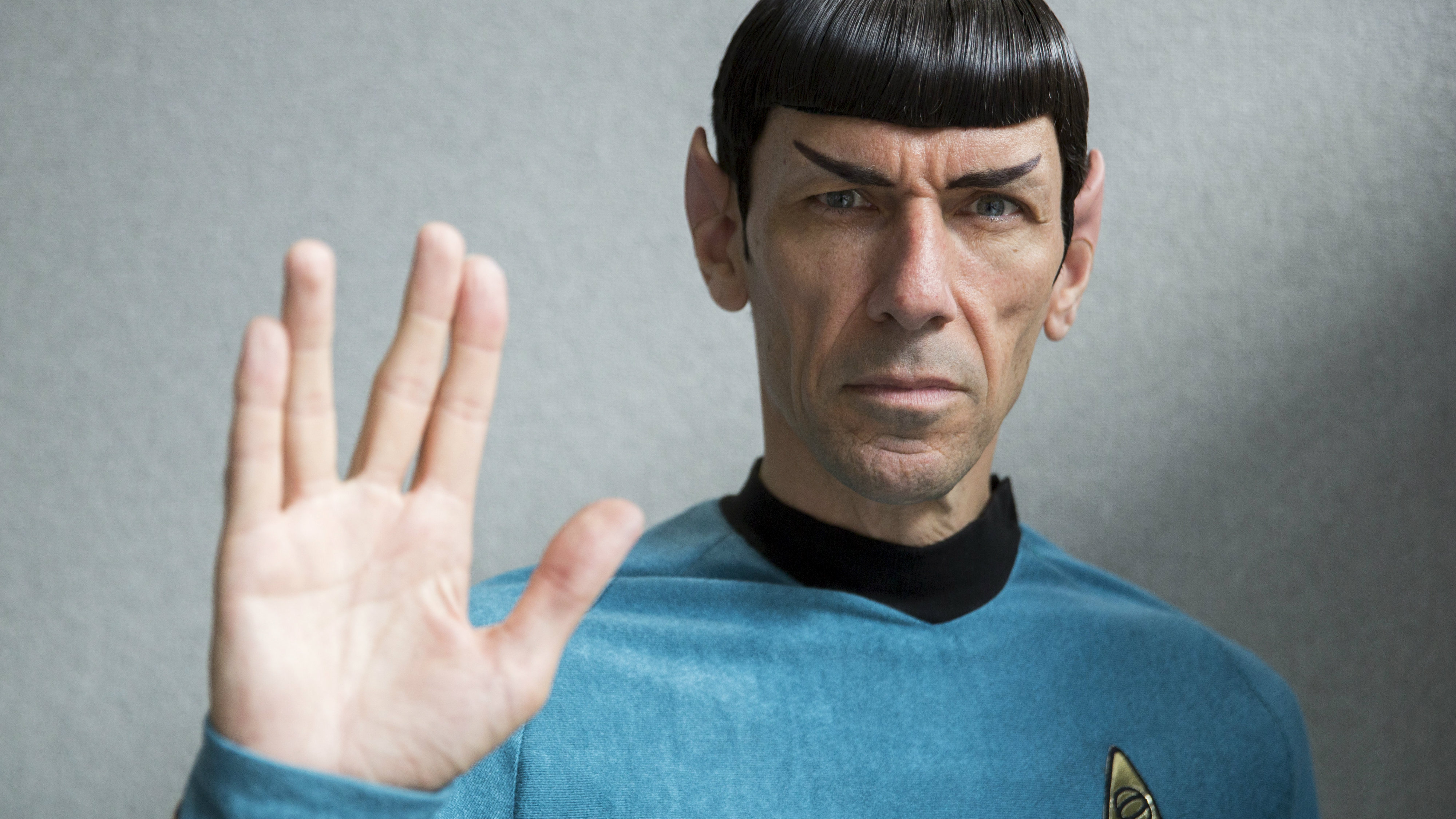 """An impersonator poses in costume as the character Mr Spock from the science fiction series """"Star Trek"""" at the London Film and Comic-Con in London, Britain July 17, 2015."""