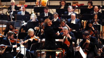 Minnesota Orchestra, Music Director Osmo Vanska of Finland, center, conducts a concert in Havana, Cuba.
