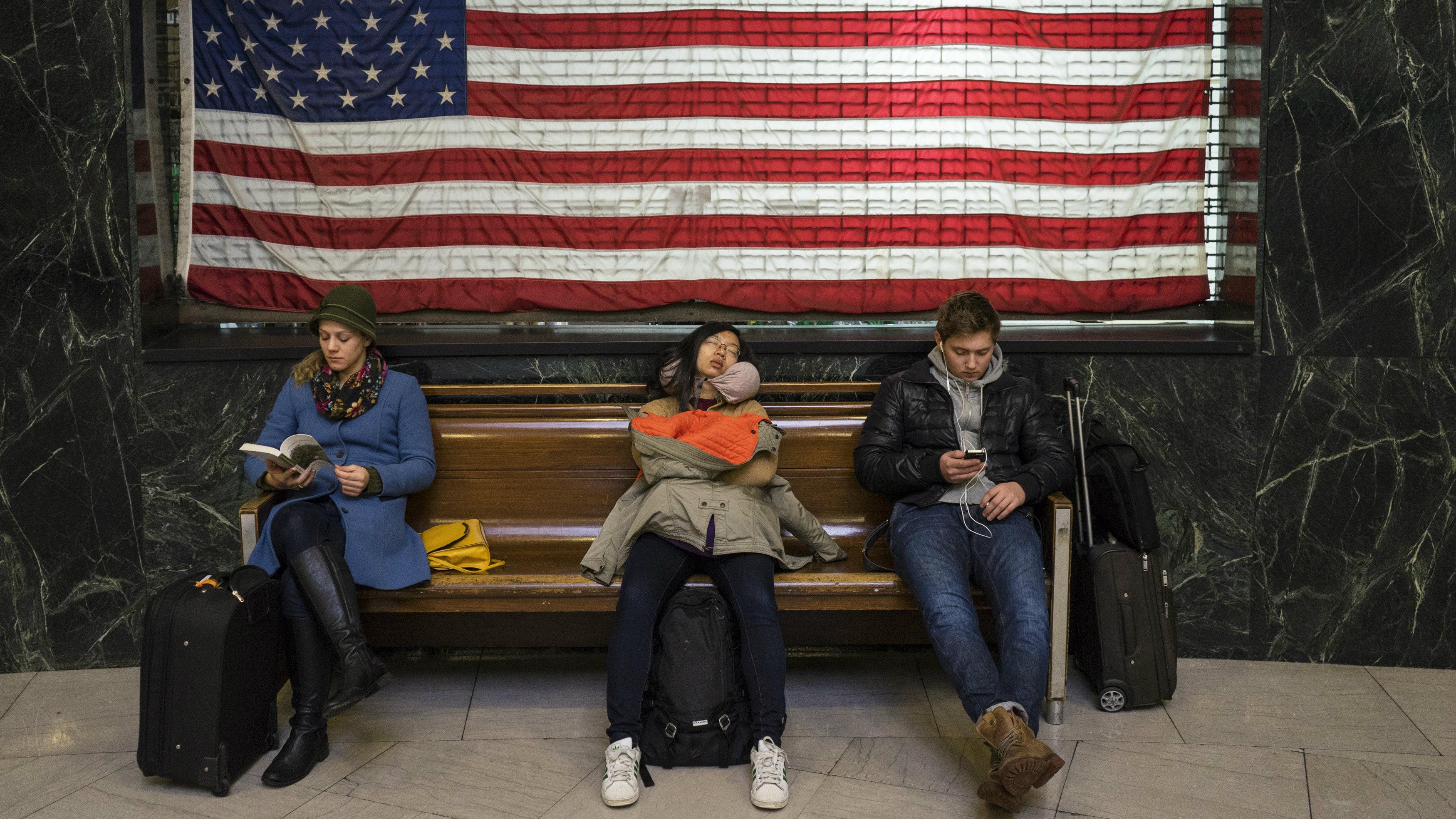travelers american flag