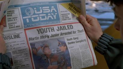 USA Today Back to the Future II