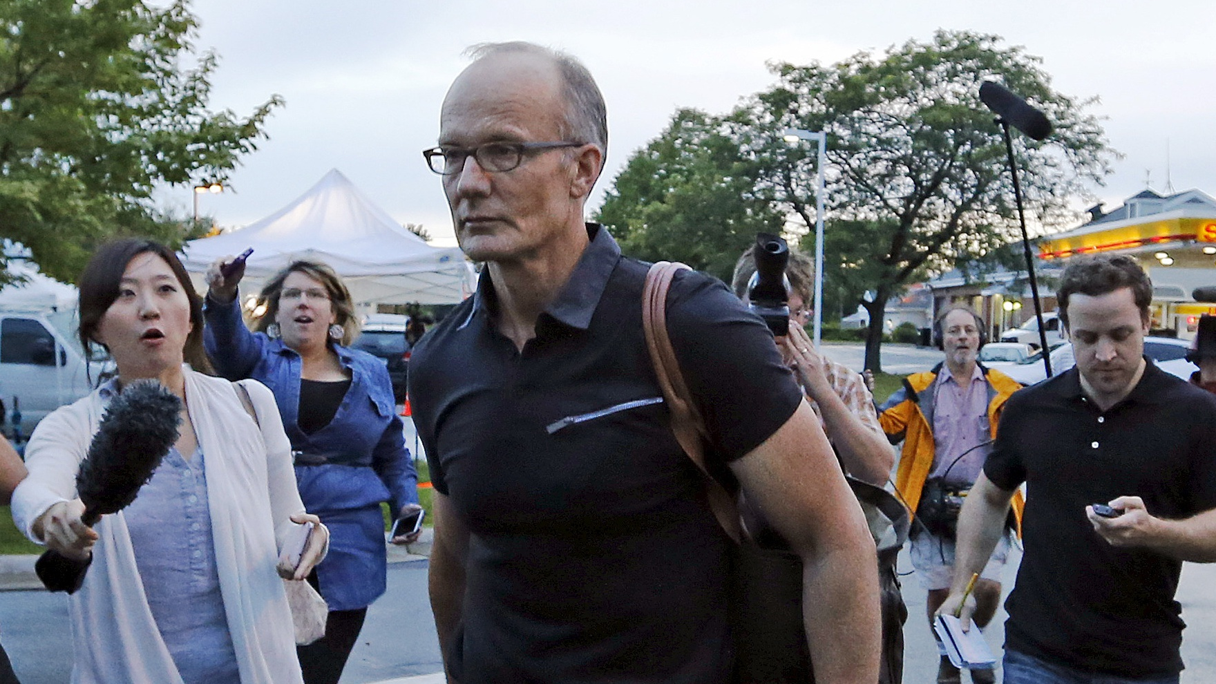 Walter Palmer arrives at the River Bluff Dental clinic in Bloomington, Minnesota, September 8, 2015. Palmer shut his dental practice in July amid a firestorm of protests after he was identified publicly as the big game hunter who had killed the rare black-maned lion, Cecil, a popular tourist attraction in Zimbabwe.